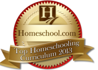 2013 Homeschool.com Top Curriculum Award